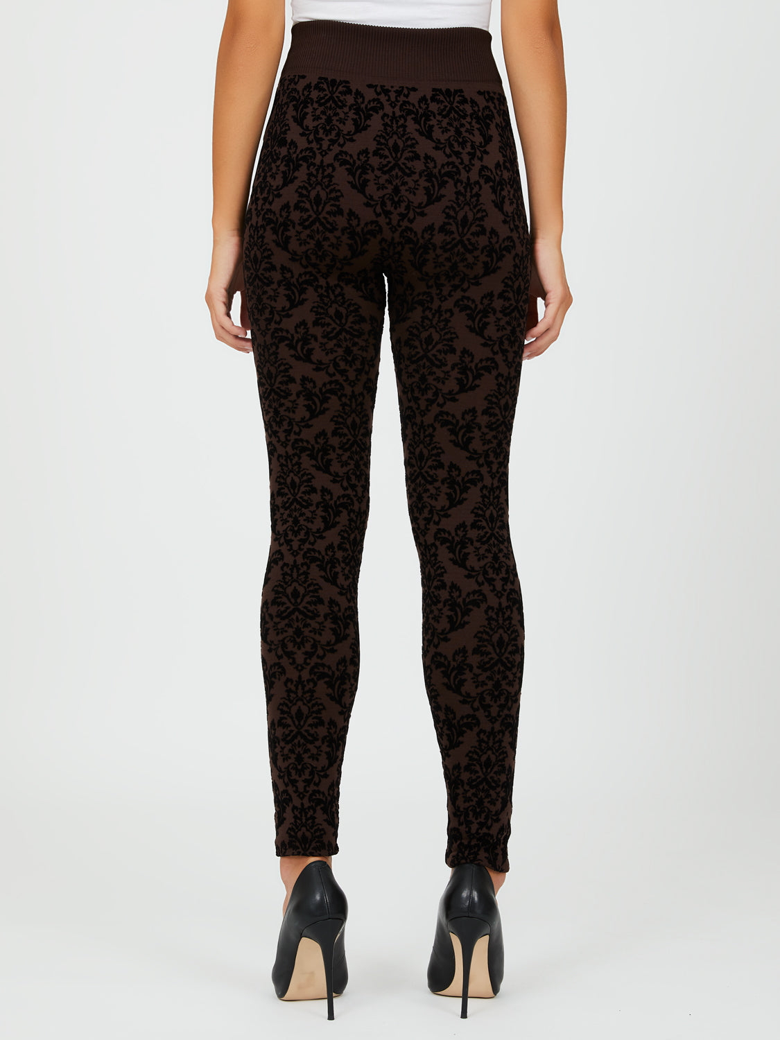 Brocade Flocked Leggings