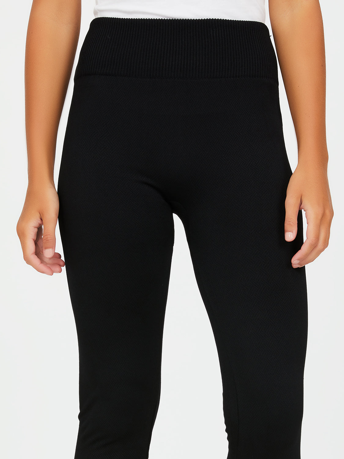 Jacquard Cable Knit Fleece Leggings