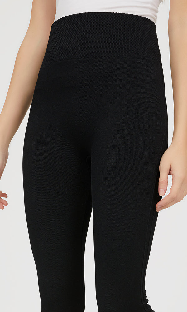 Fleece Lined Textured Leggings