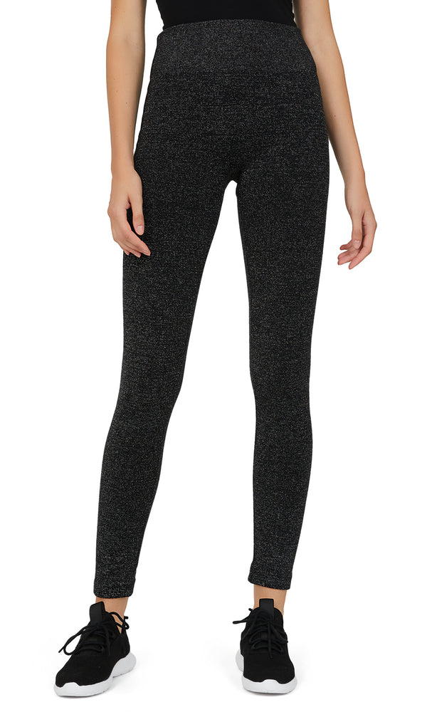 Metallic Knit Fleece Lined Leggings