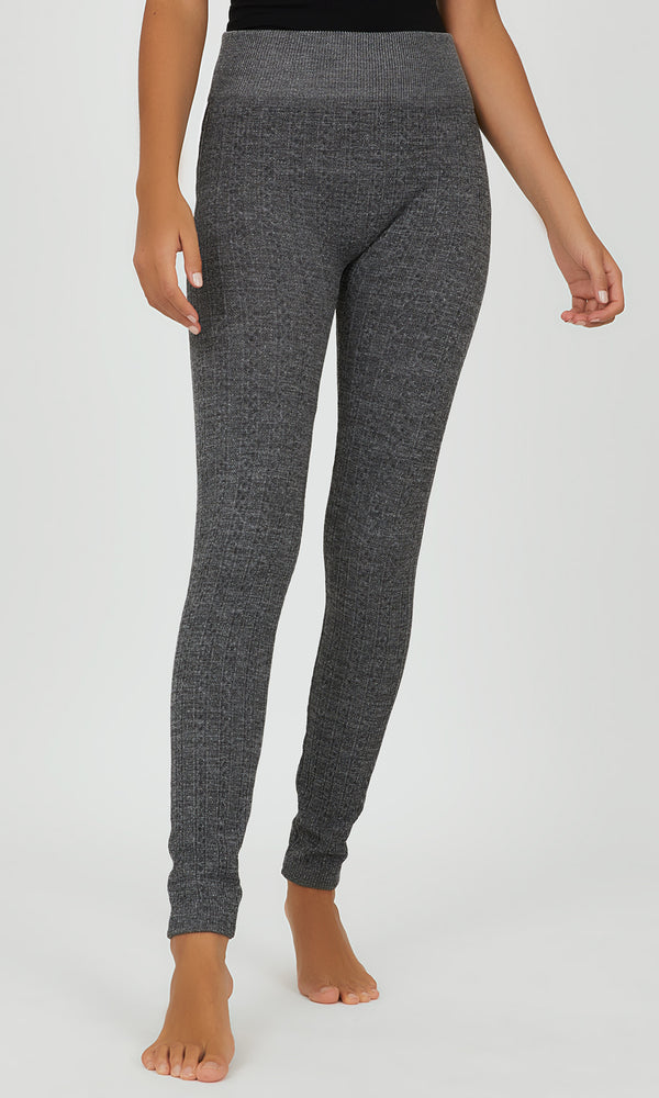 Tonal Space Dye Fleece Lined Leggings