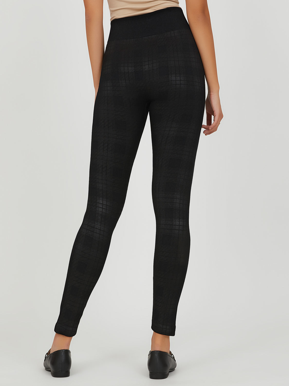 Plaid Fleece Lined Legging
