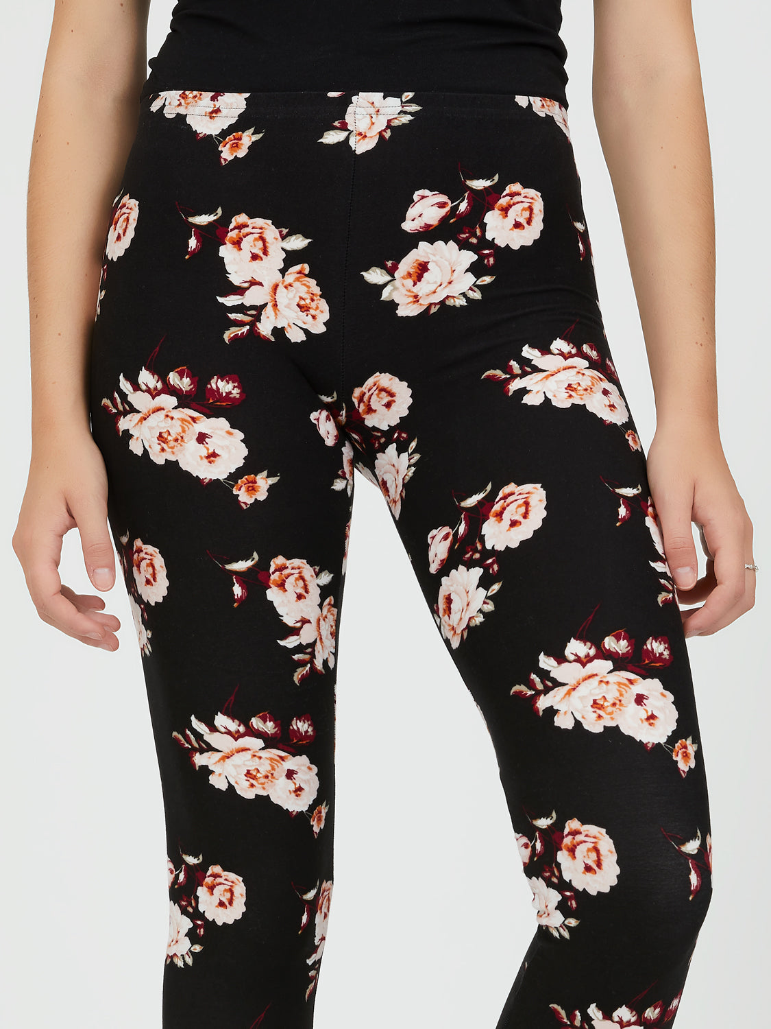 Brushed Yummy Floral Leggings