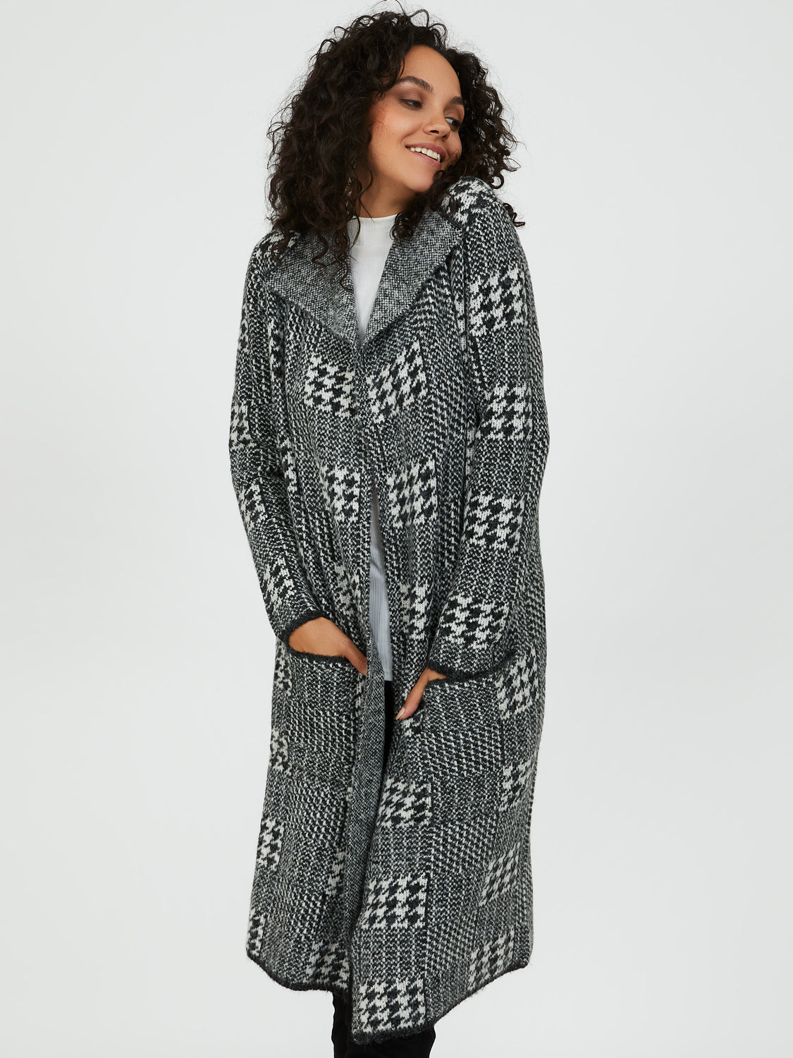 Relaxed Fit Plaid Duster