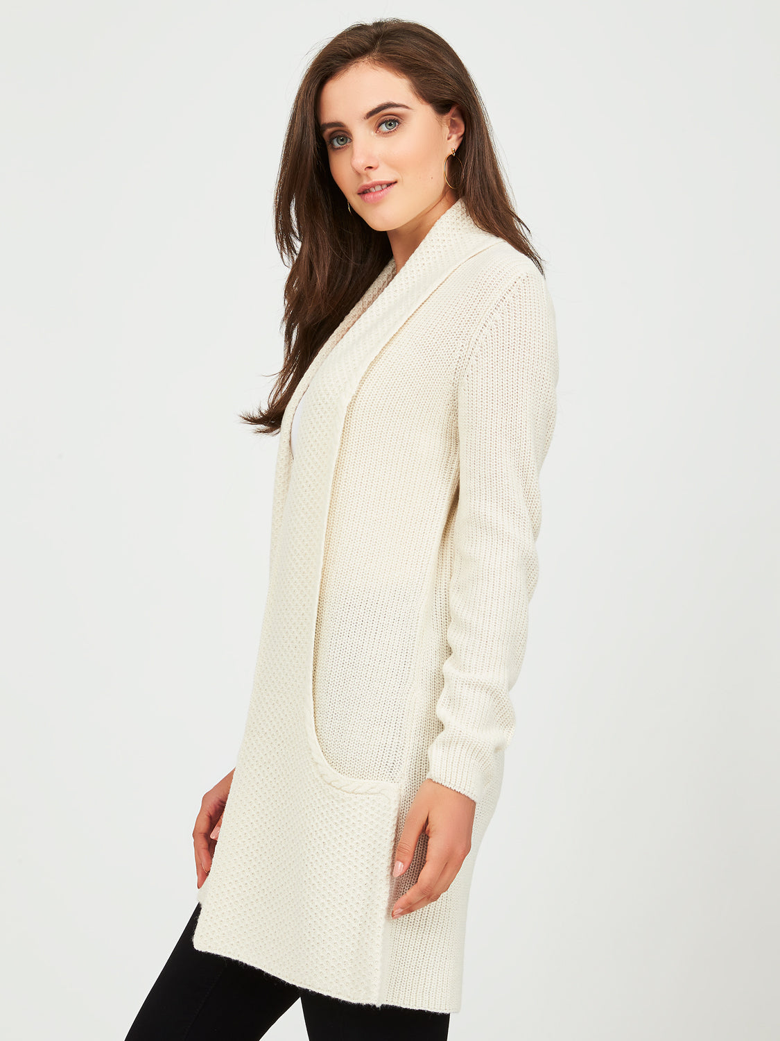 Shaker Stitch Sweater Duster