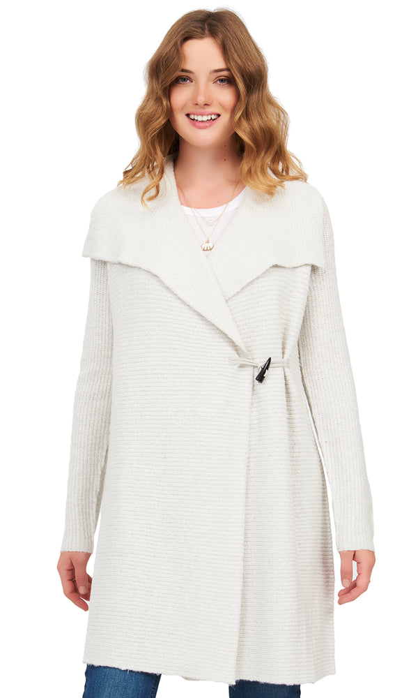 Knit Sweater Waterfall Duster