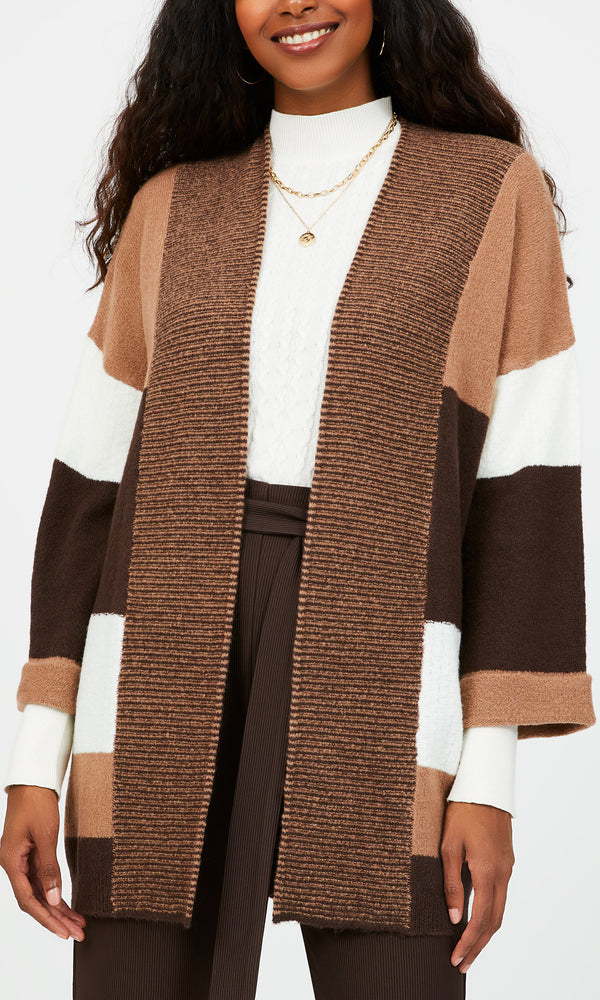 Cardigan chandail en patchwork
