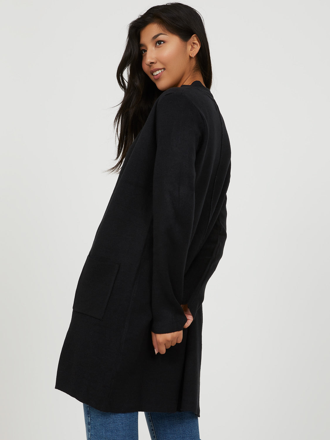 Manteau-cardigan long