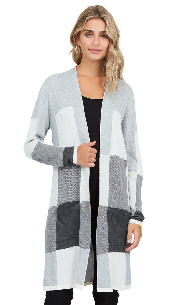 Colour Block Sweater Duster