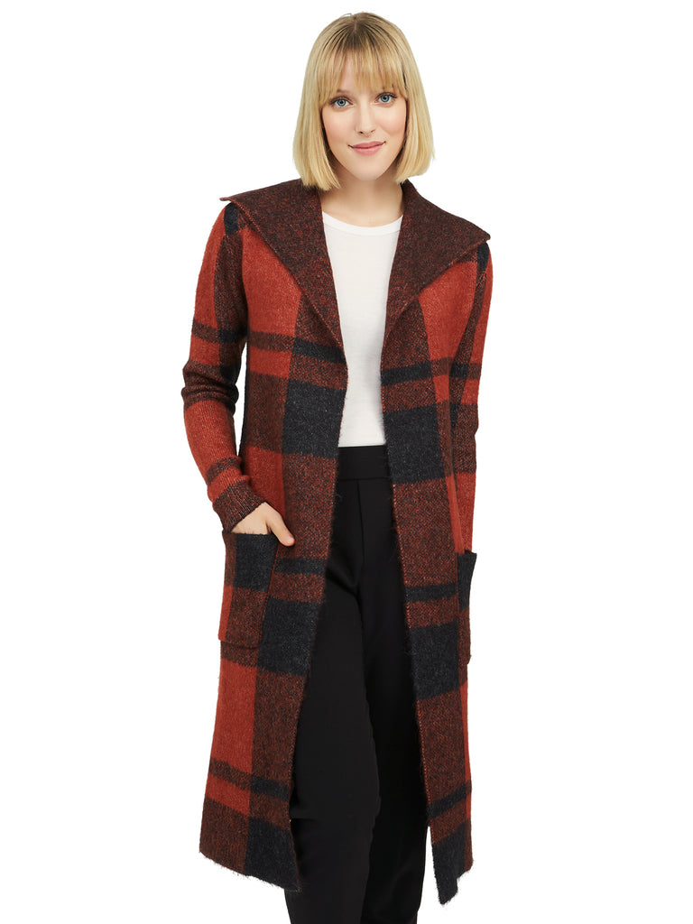 Plaid Sweater Duster by Suzy Shier