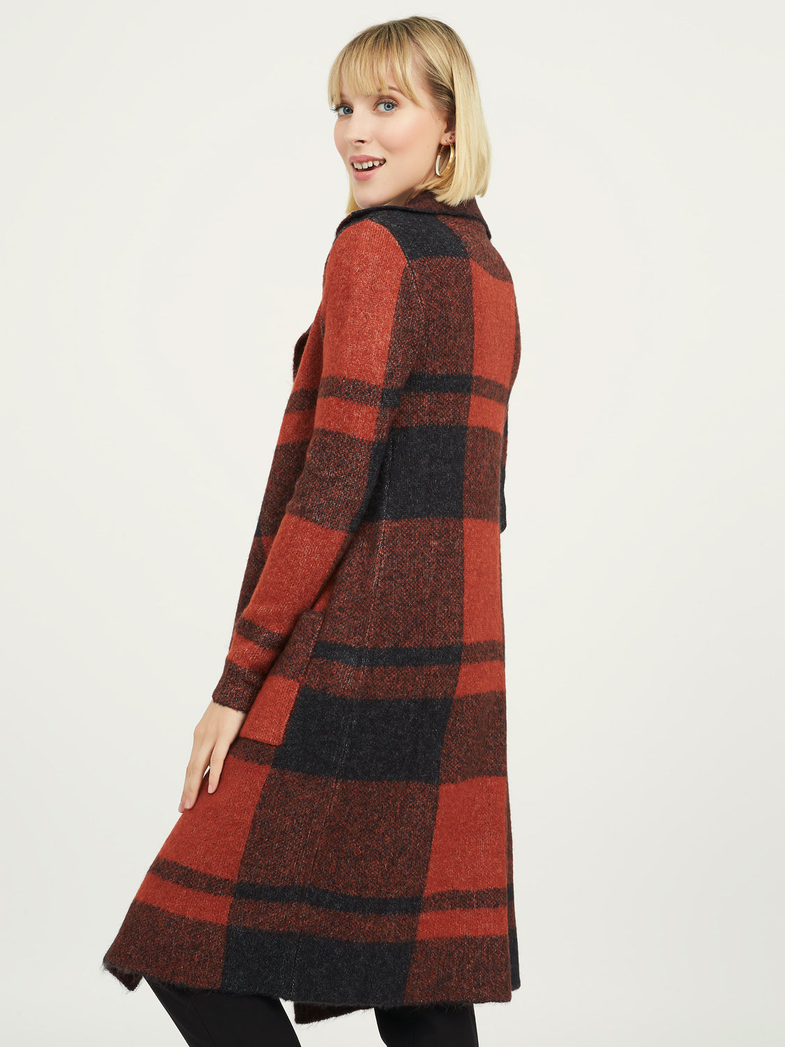 Plaid Sweater Duster
