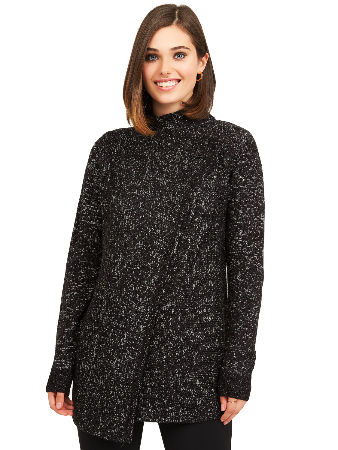 X-Over Knit Sweater Duster