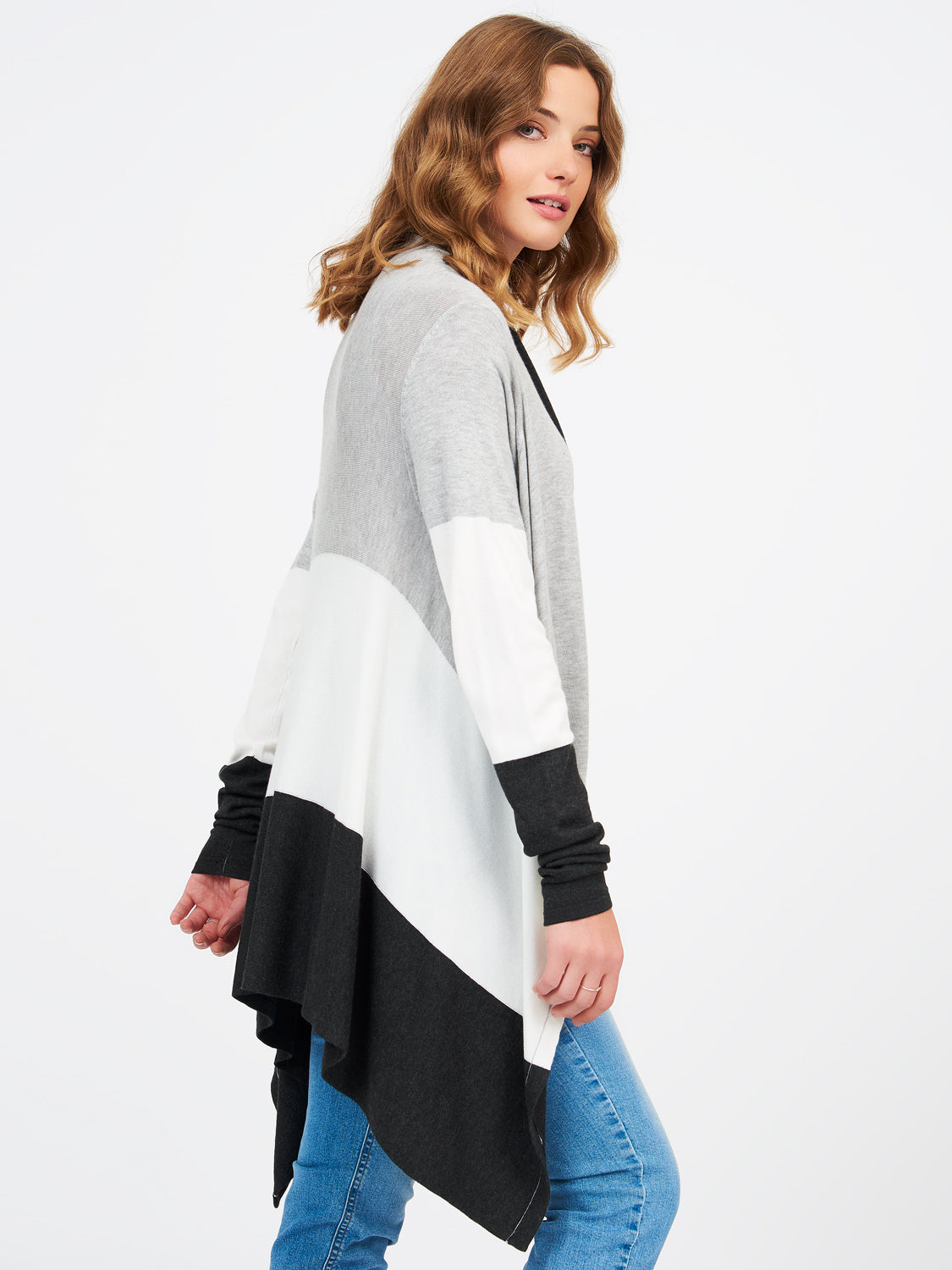 Long Sleeve Shawl Front Duster