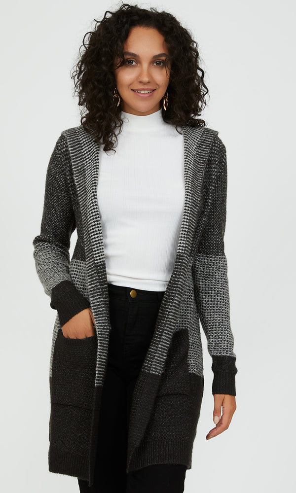 Long Sleeve Ombre Sweater Duster
