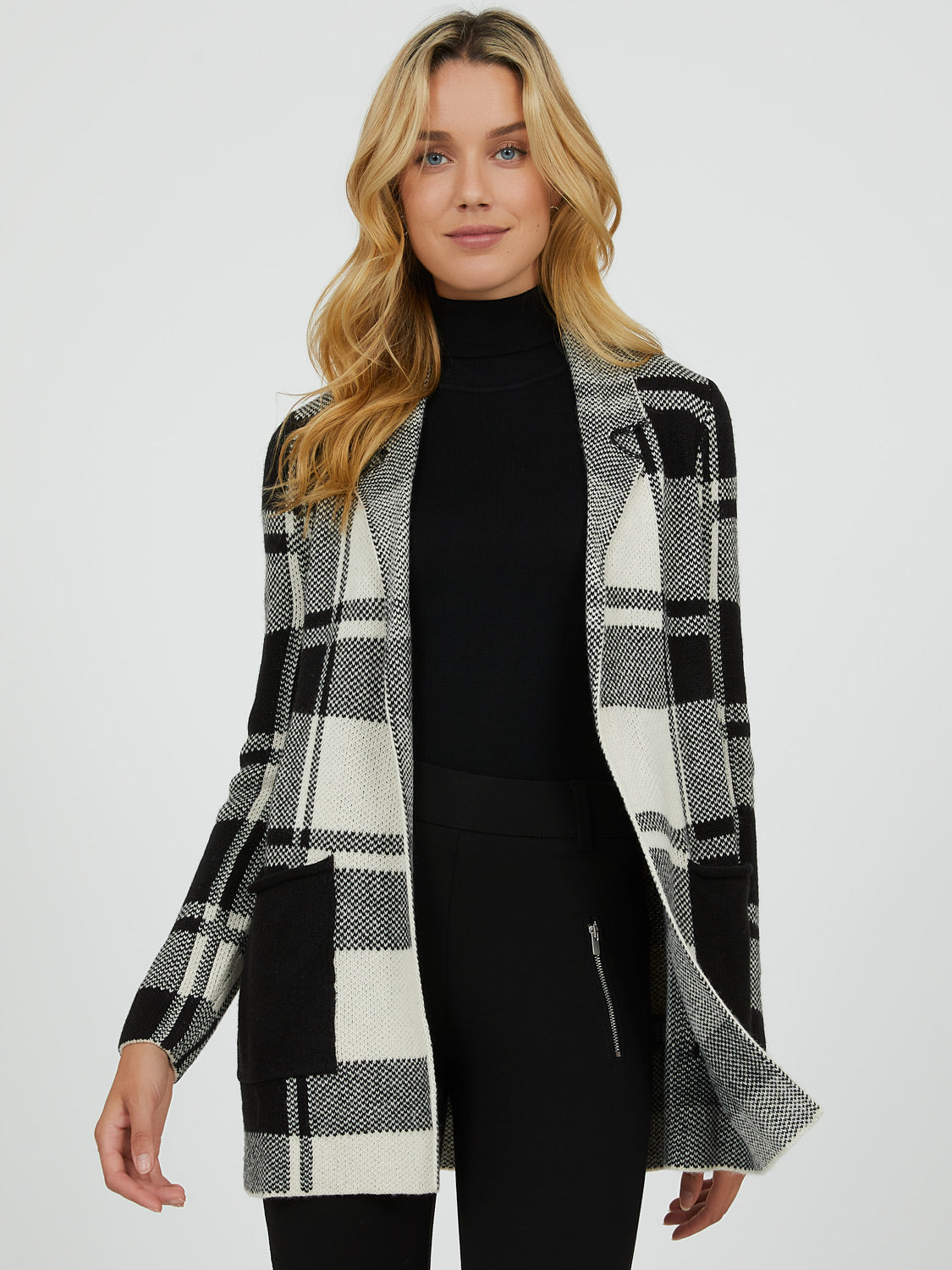 Plaid Jacquard Duster