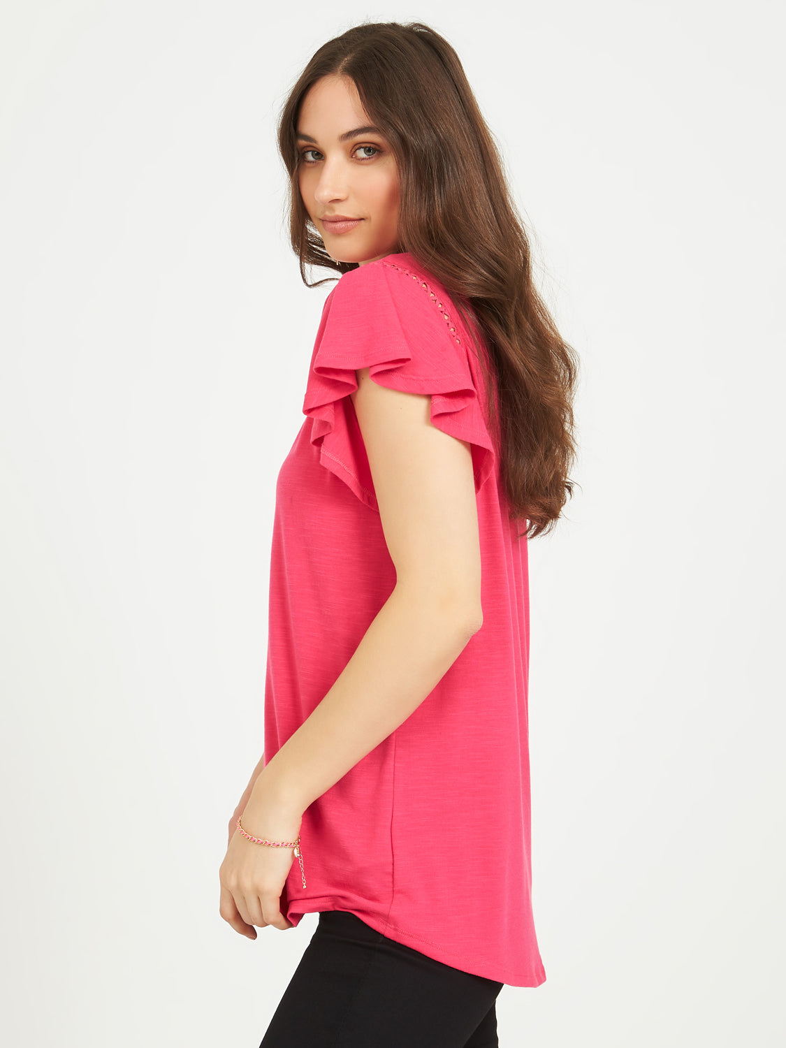 Fagoting Flutter Sleeve T-Shirt