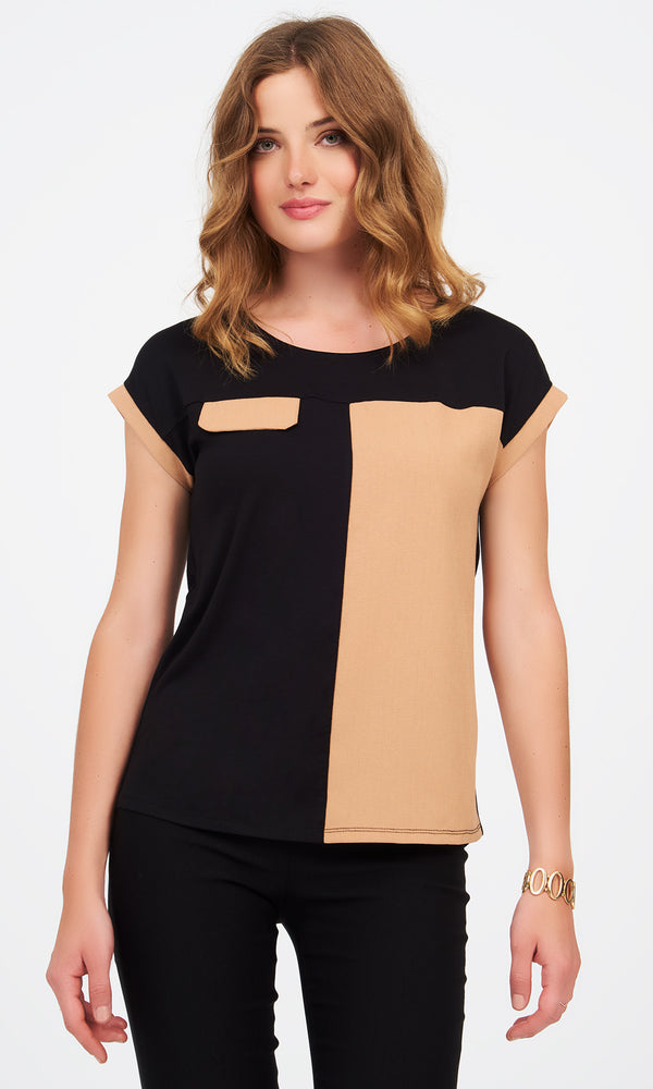 Short Sleeve Colour Block Tee