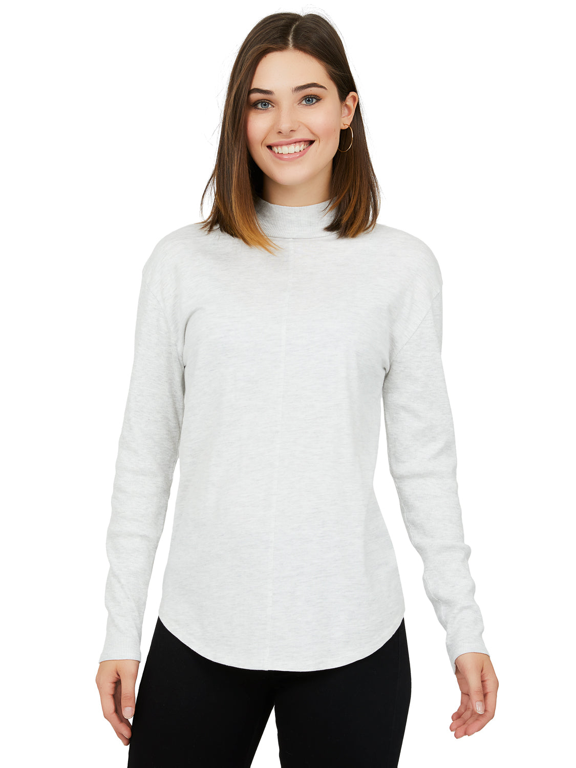 Melange Jersey Knit Top