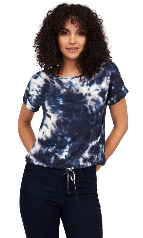 Tie-Dye French Terry Short Sleeve Tee