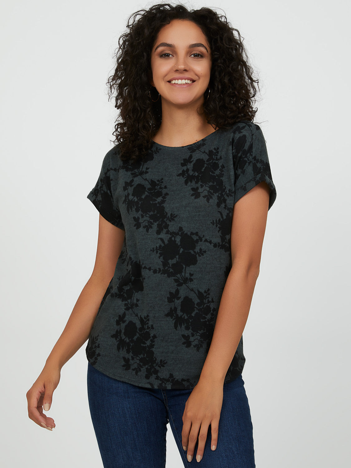 Cute Short Sleeve Printed Tee