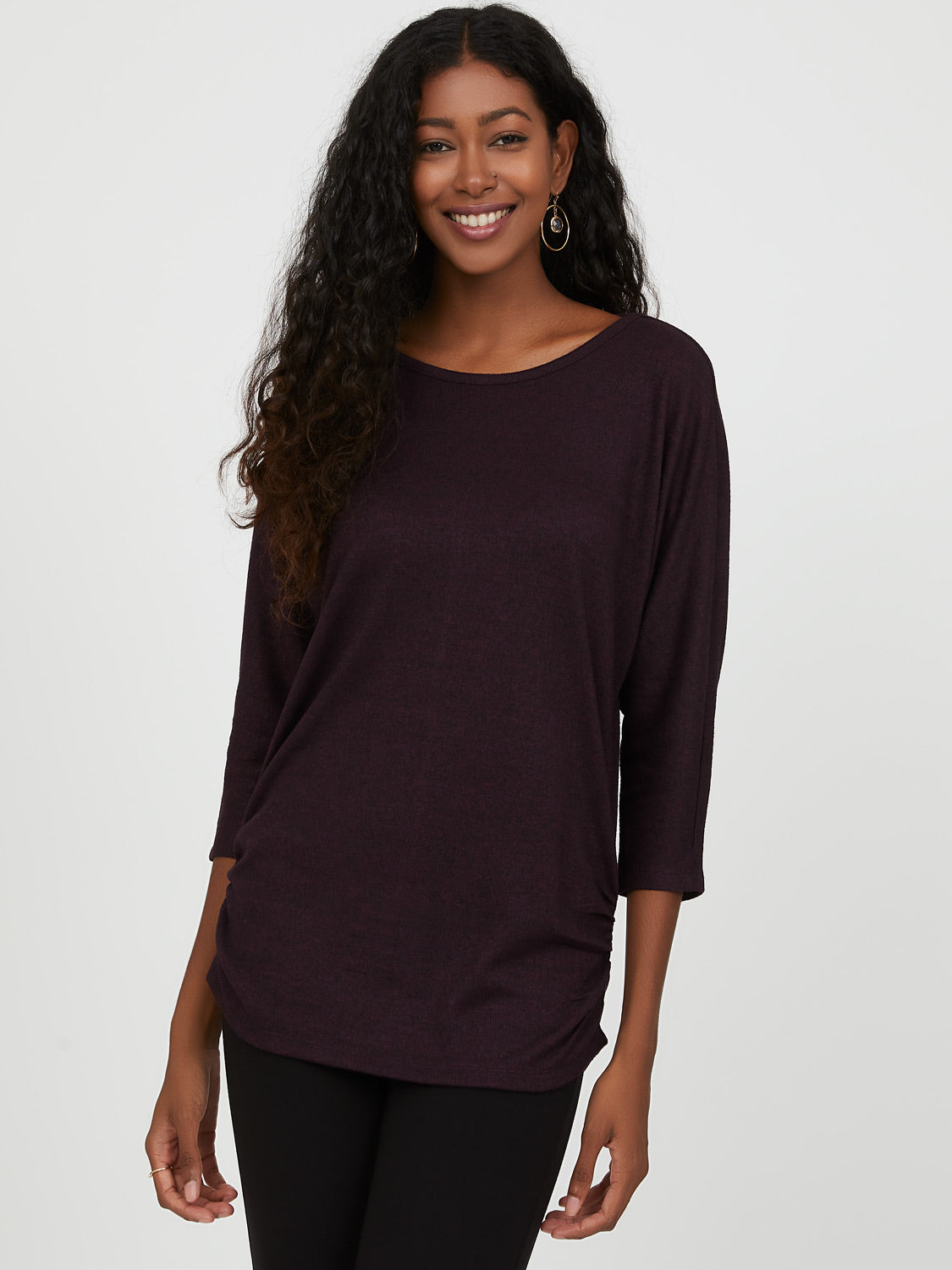Relaxed Ruched Side Top