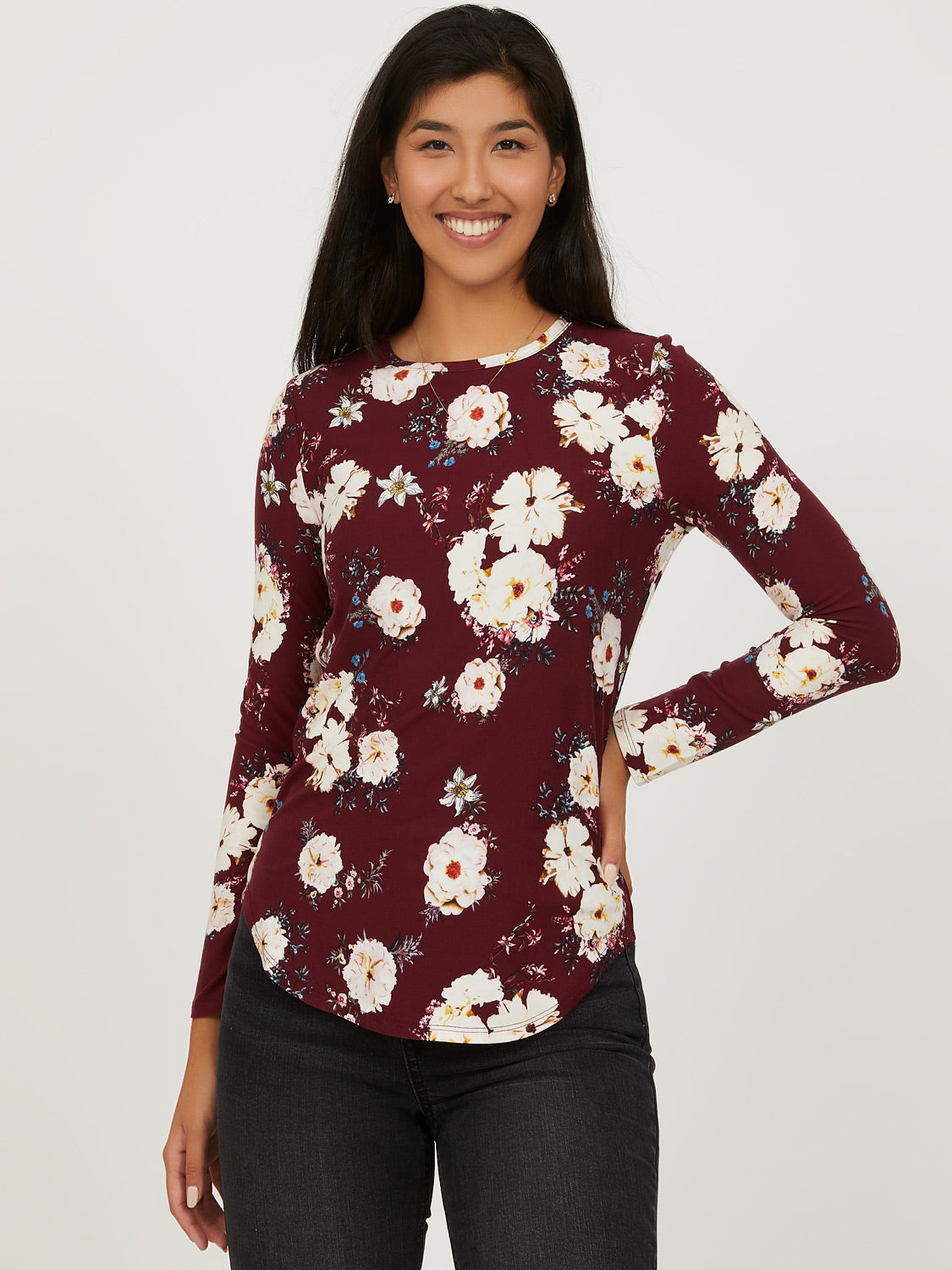 Long Sleeve Floral Tee