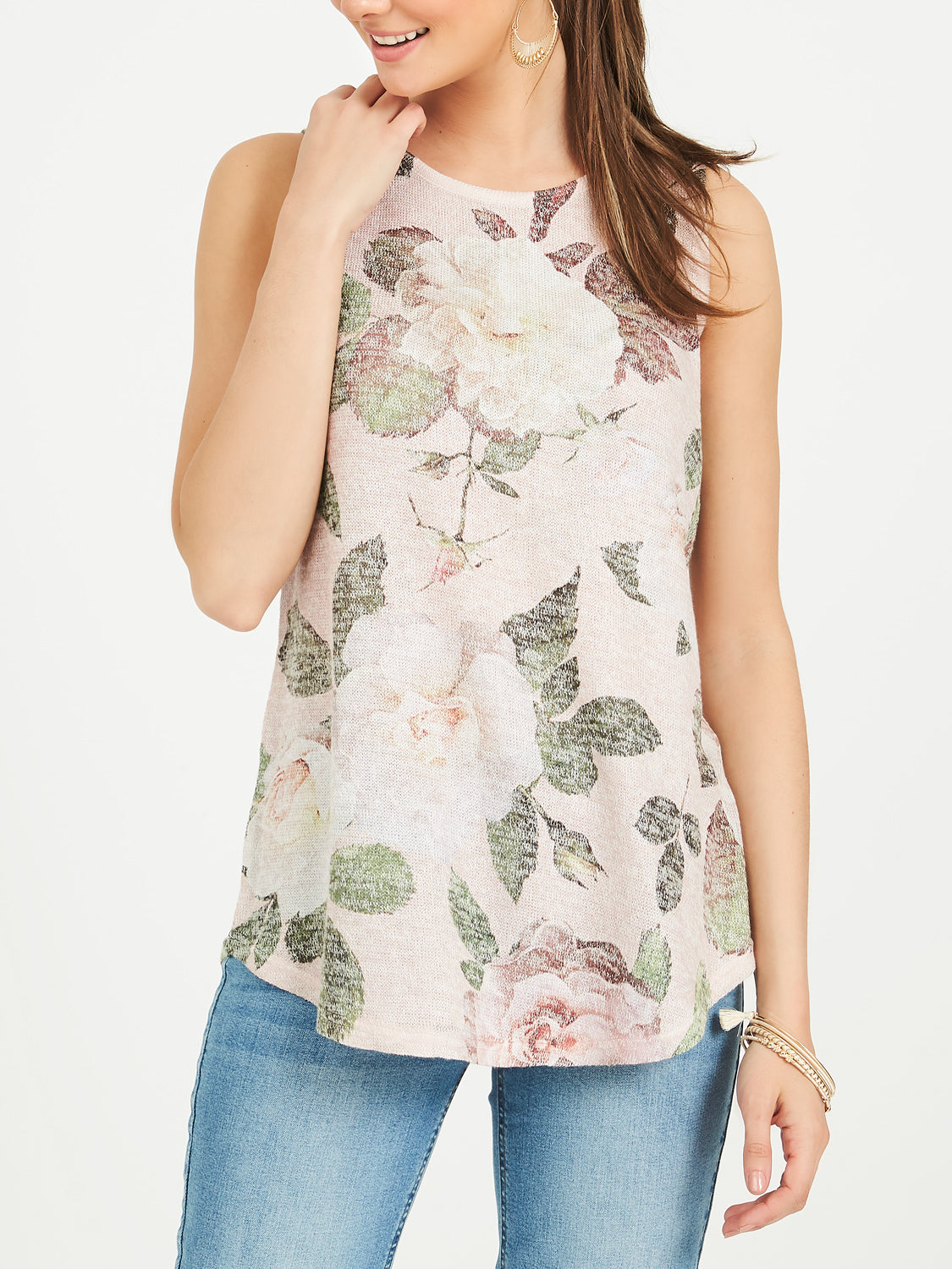 Floral Scoop Neck Tank