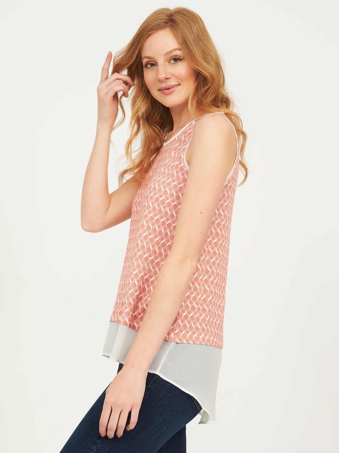 Printed Jersey Blouse