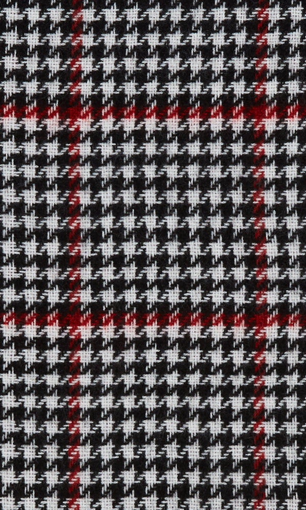 Frayed Houndstooth Plaid Scarf