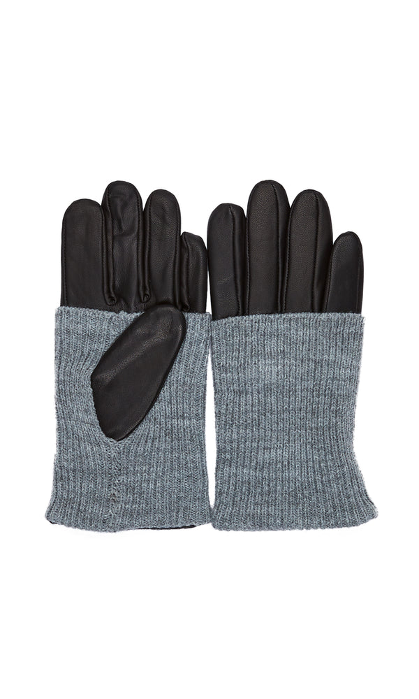 Leather Fold Over Gloves