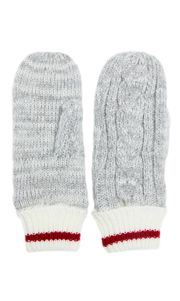 Cable Knit Chalet Print Mittens