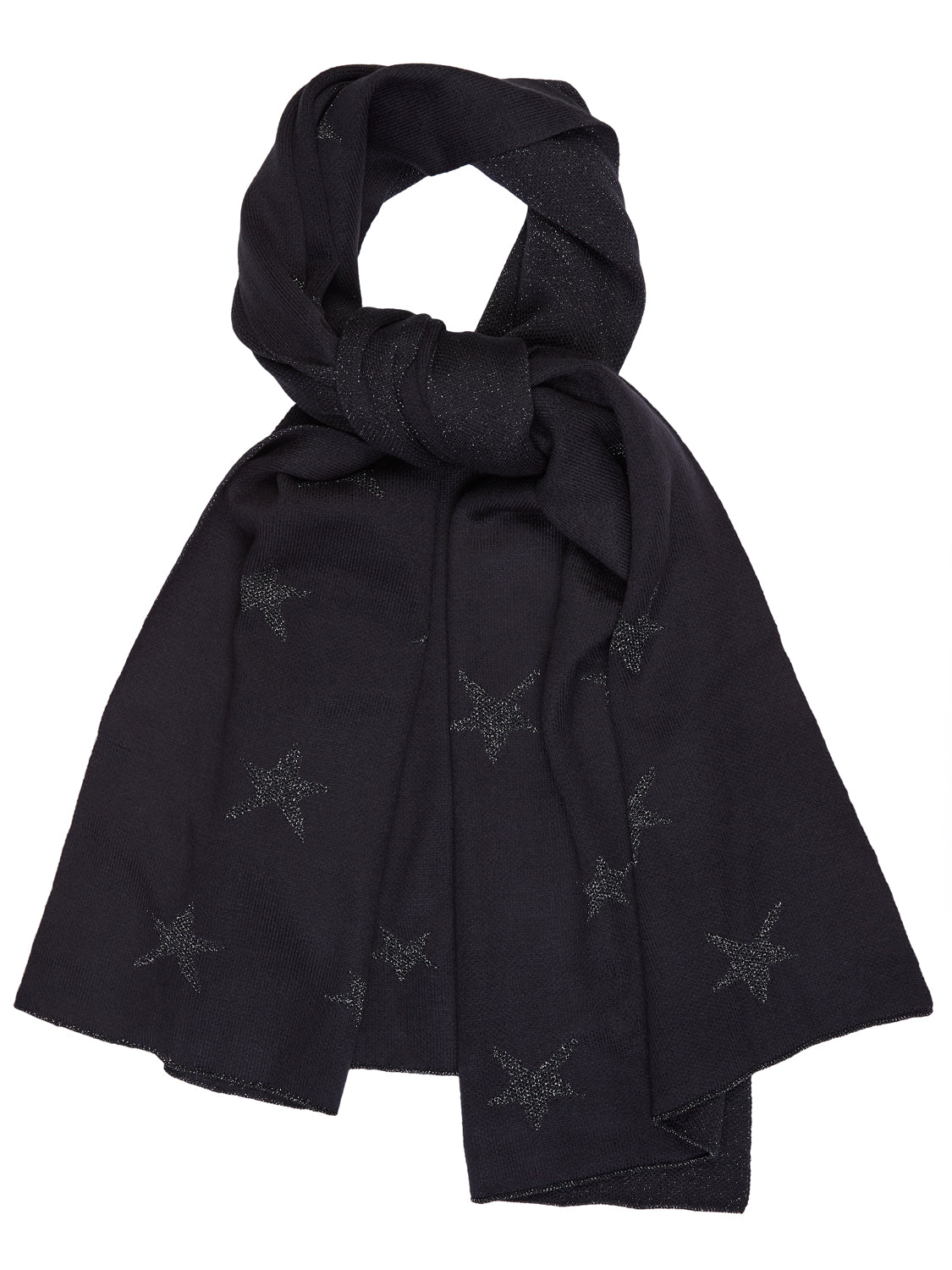 Metallic Star Print Scarf