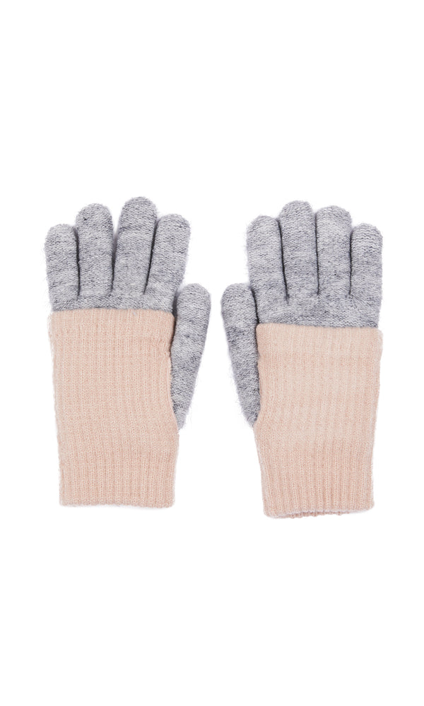 2-In-1 Ribbed Fold Over Gloves