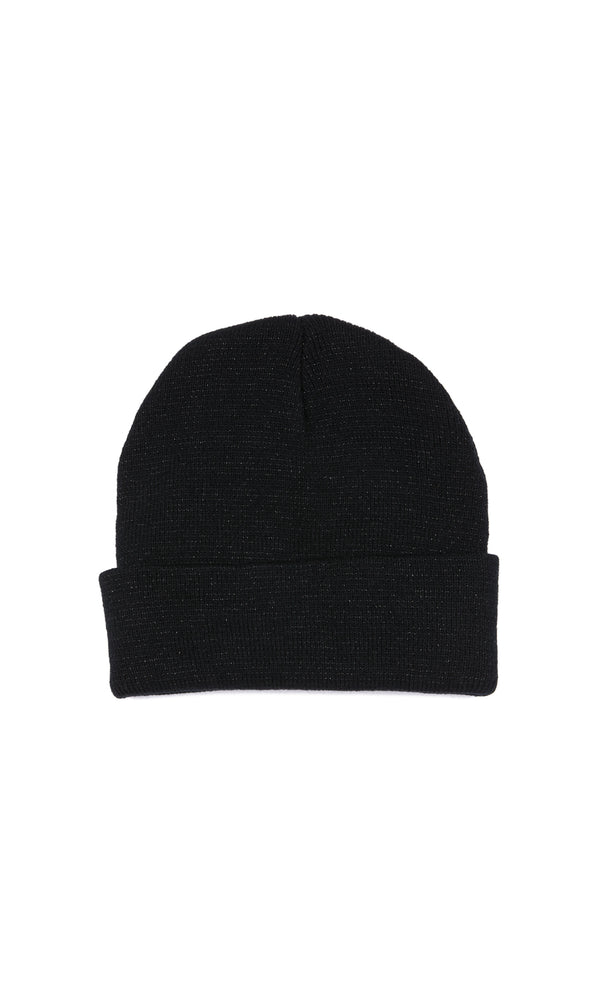 Tuque en lurex à revers