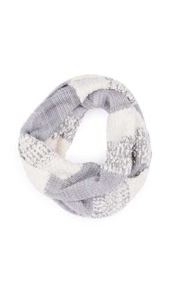 Multimedia Textured Infinity Scarf