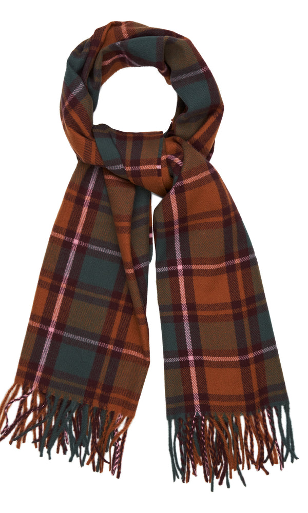 Autumn Tattersall Plaid Scarf