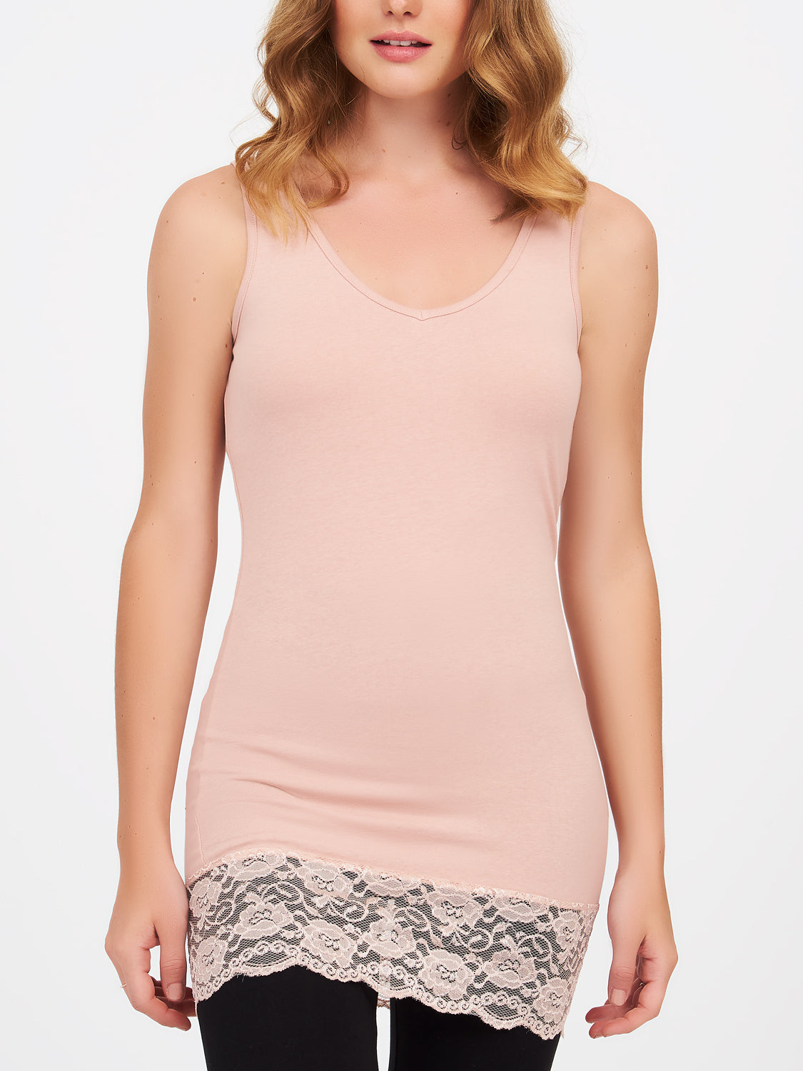 Cotton Tank Tunic With Lace