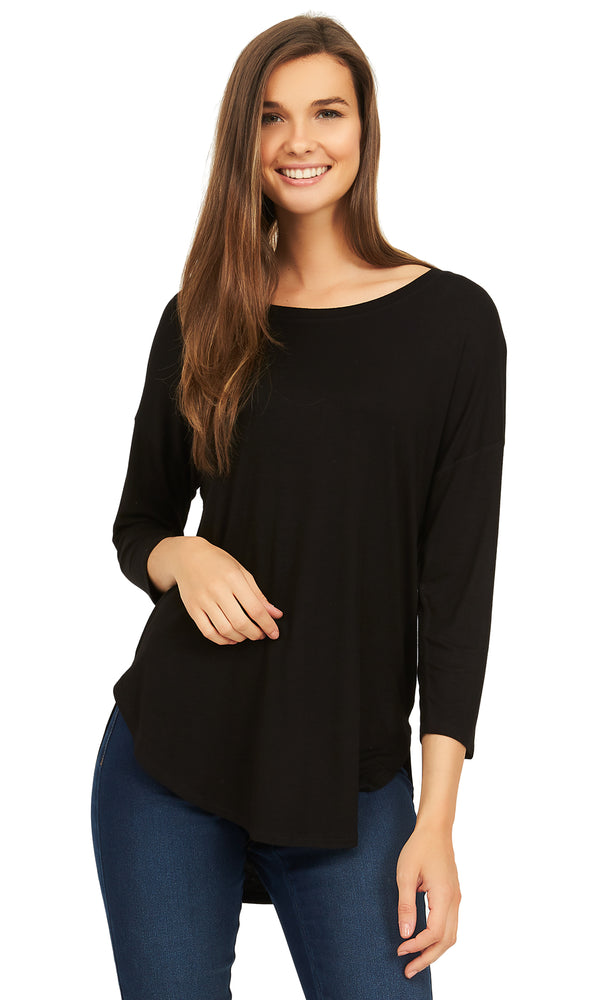 Neck Long Sleeve Tee