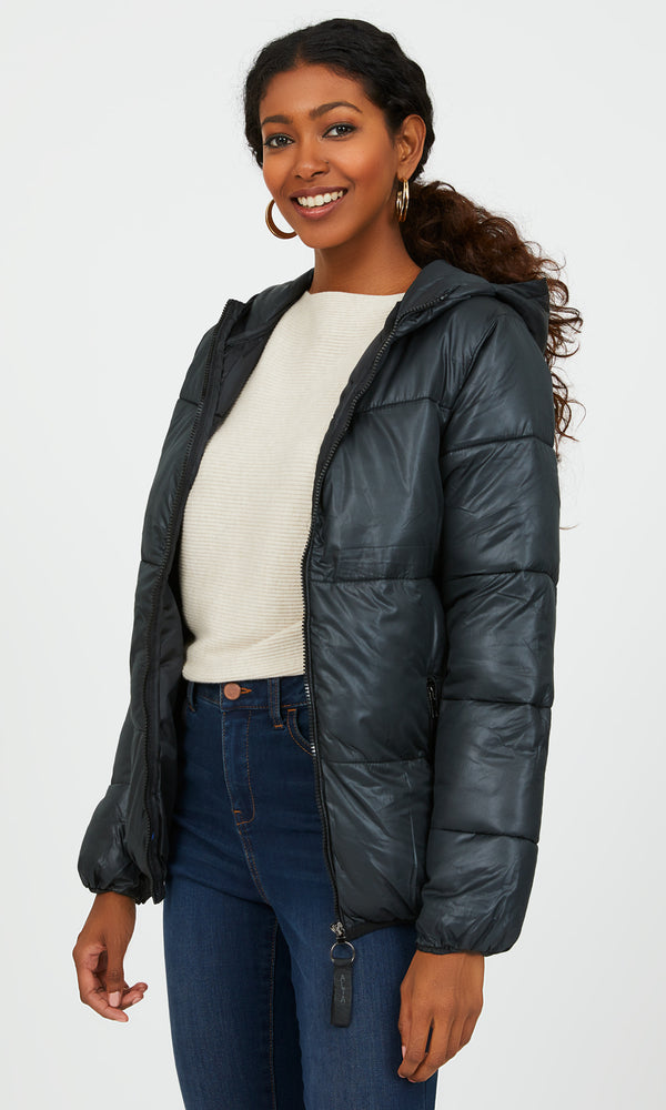 Hooded Short Puffer Jacket