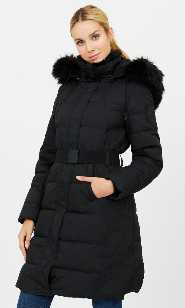 ¾ Down-Filled Puffer Coat