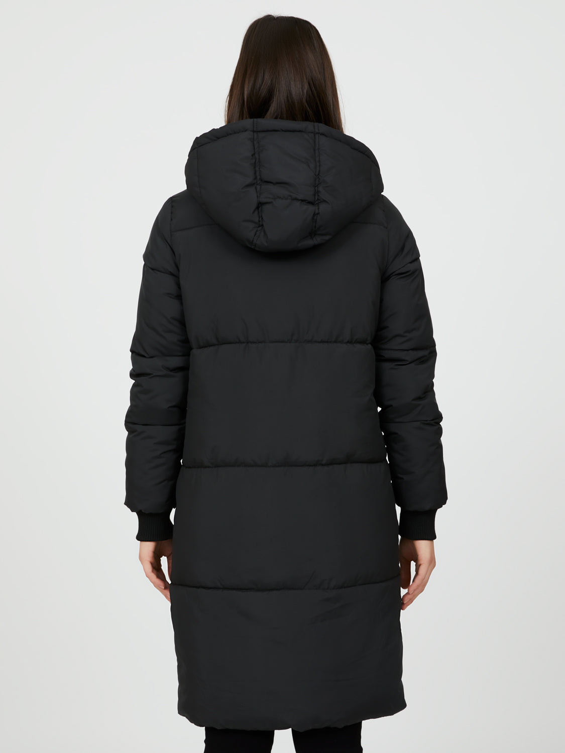 Oversized Long Puffer With Hood