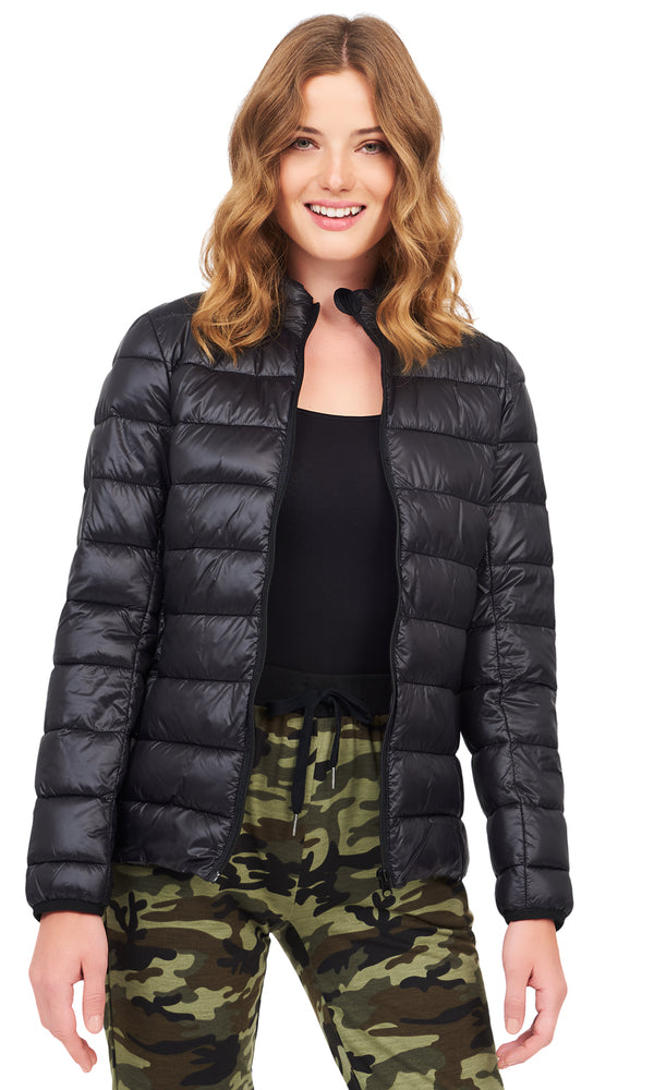 Ribbed Puff Packaway Jacket