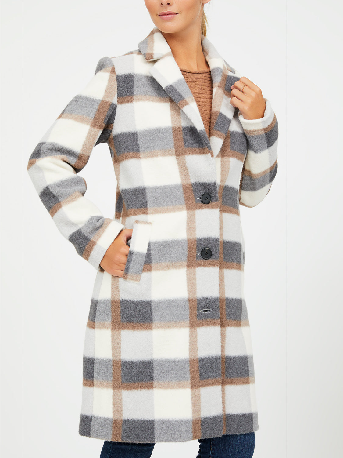 3-Button Car Coat