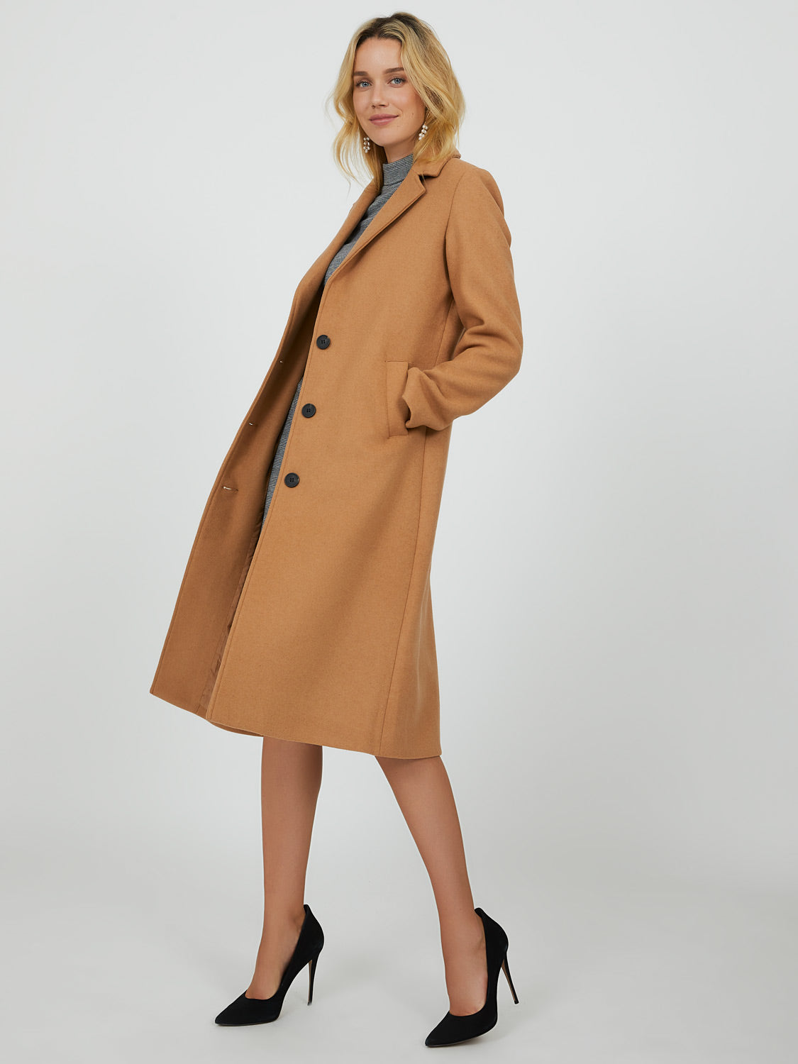 Long Button-Down Coat