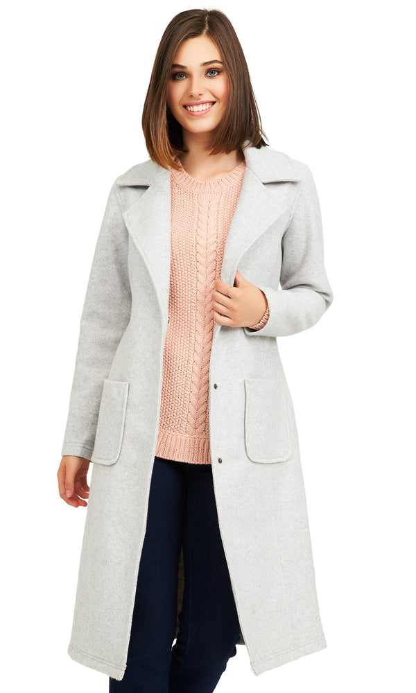 Elongated Brushed Knit Jacket