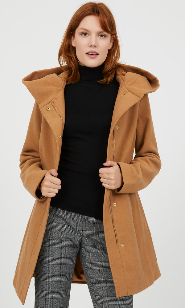 Hooded Melton Jacket