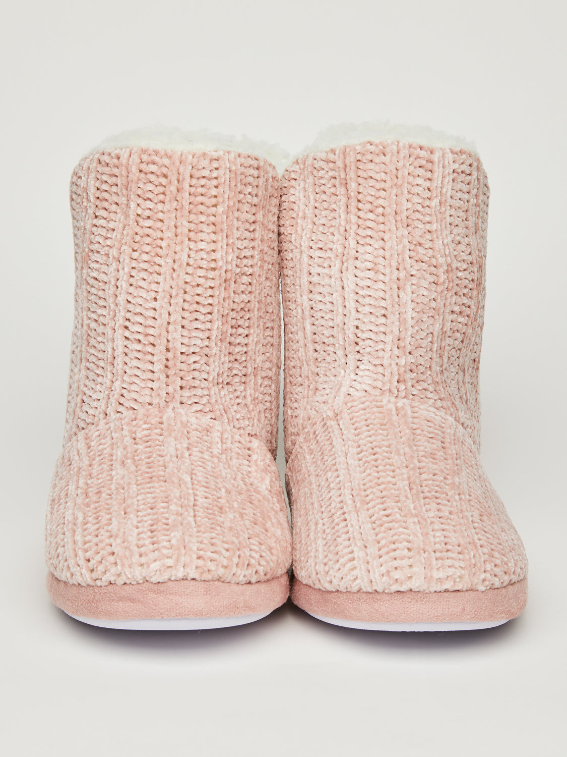 Chenille Fair Isle Slipper Bootie