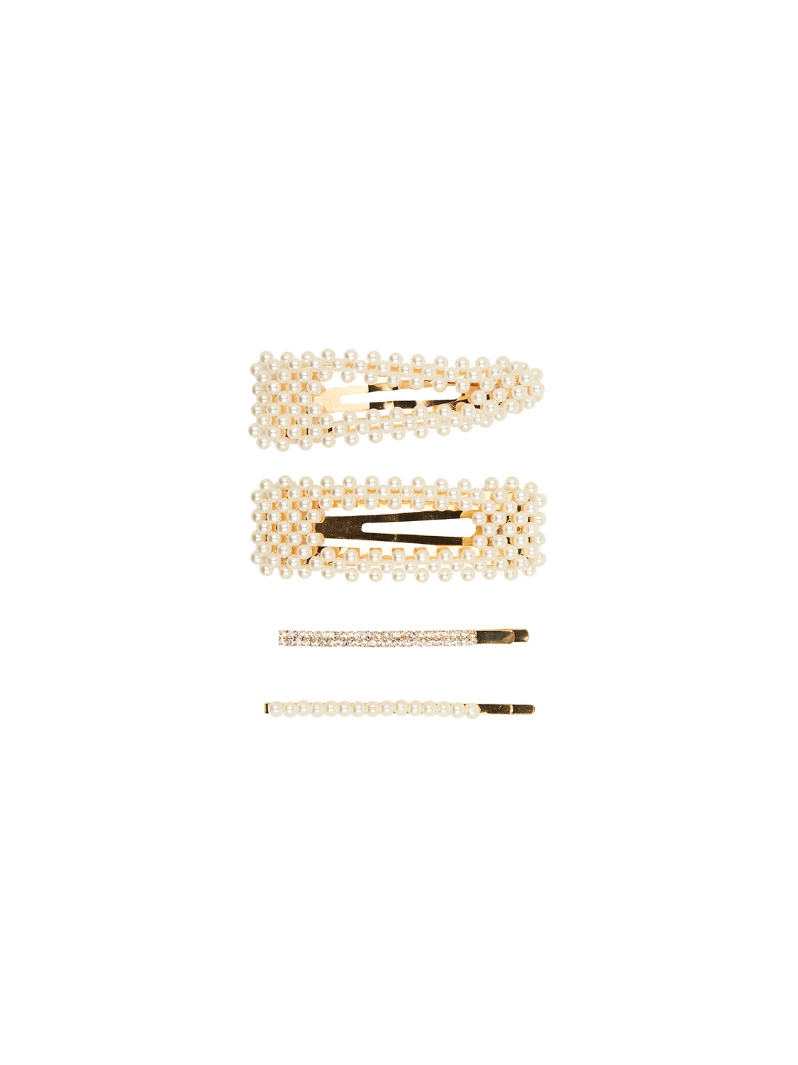 4-Piece Pearl Barrettes & Pins