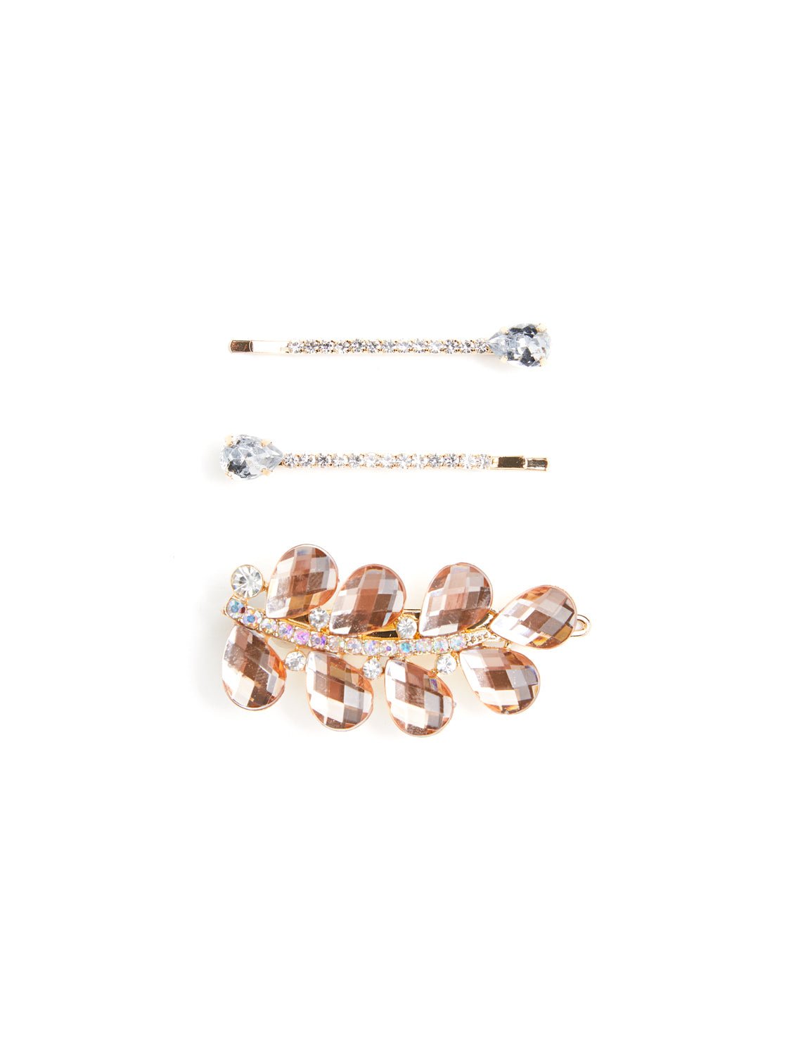 3-Pack Bejeweled Hair Clips