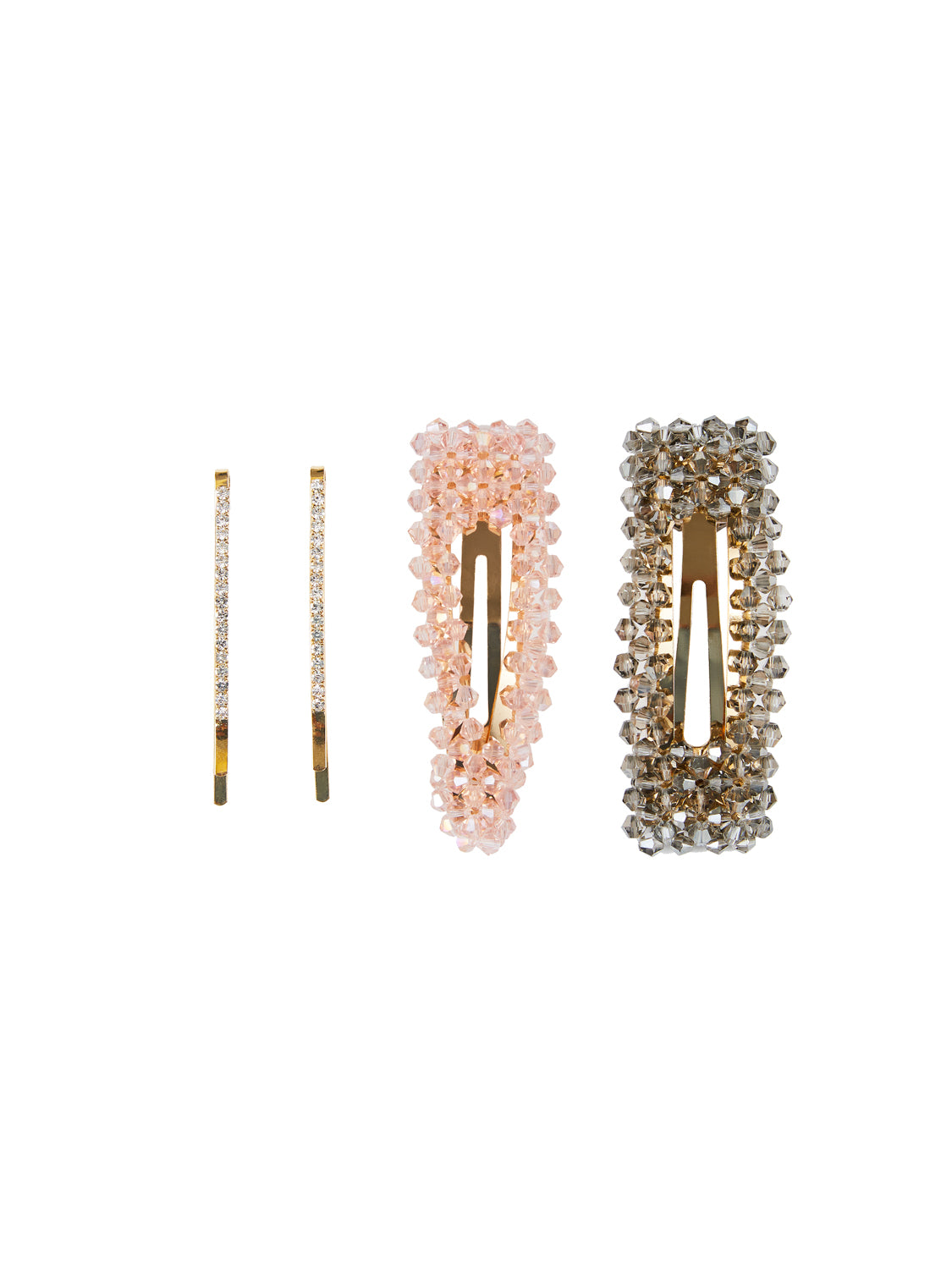 4-Piece Crystal Barrettes